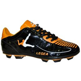 scarpa dean calcio nero-arancio